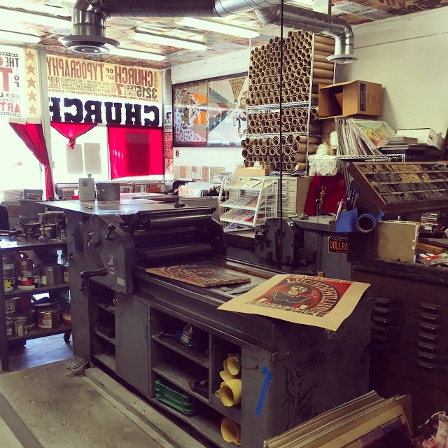 Big shout-out to Kevin Bradley @churchoftype in #santamonica thank you for the tour of your amazing #letterpress studio it was great to meet you! #design #losangeles