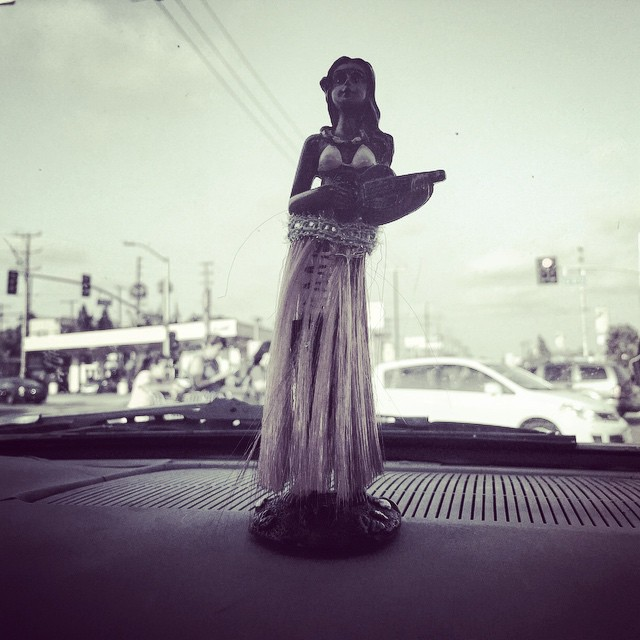 Crusin through town #hula #aloha