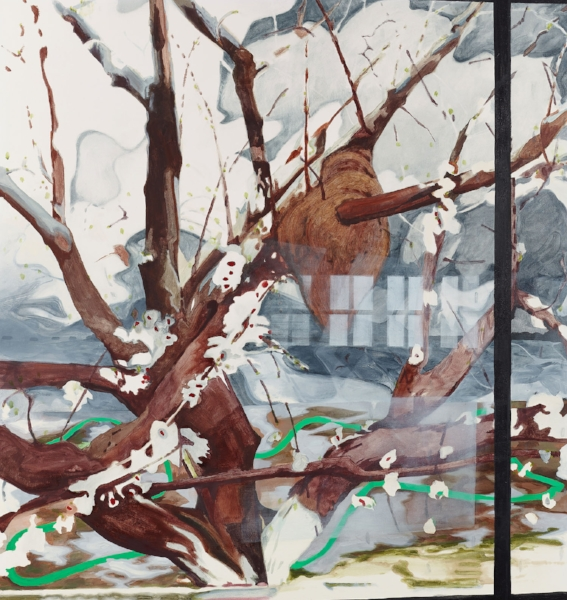 """Spring""     2012  55 x 52"" inches.  Oil on canvas."