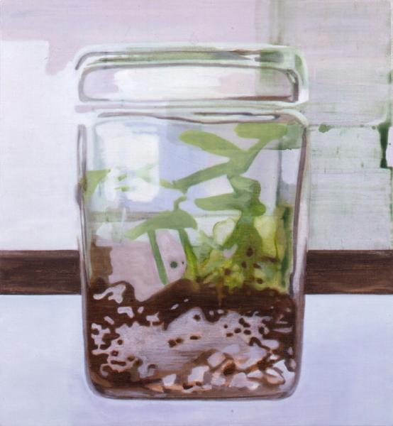 """Terrarium""    2003  29 x 27"" inches.  Oil on linen."