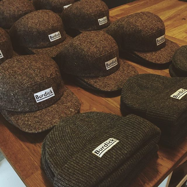 Crispy hats and beanies.  @delusionmfg