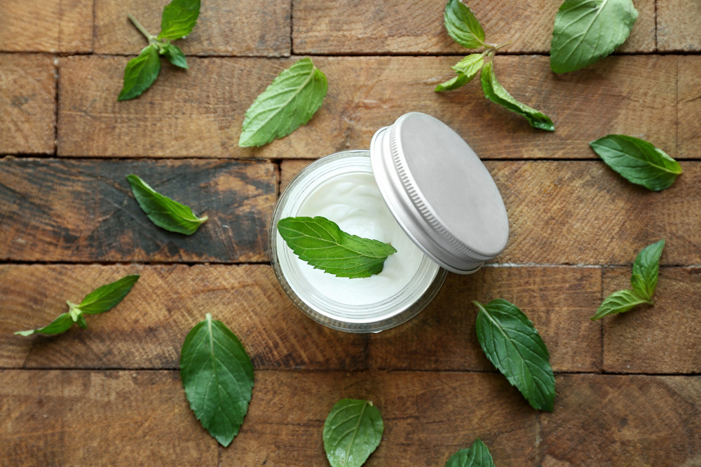 at home massage peppermint lotion