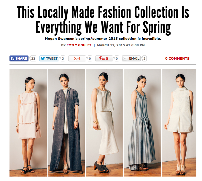 Philly Mag's fashion editor, Emily Goulet, gives Megan Swansen SS|15 an excellent write up in her Shoppist Column.