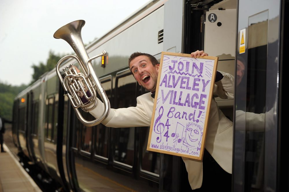 Out and about seeking musicians for the Alveley Village Band as their Musical Director! 2006-2014