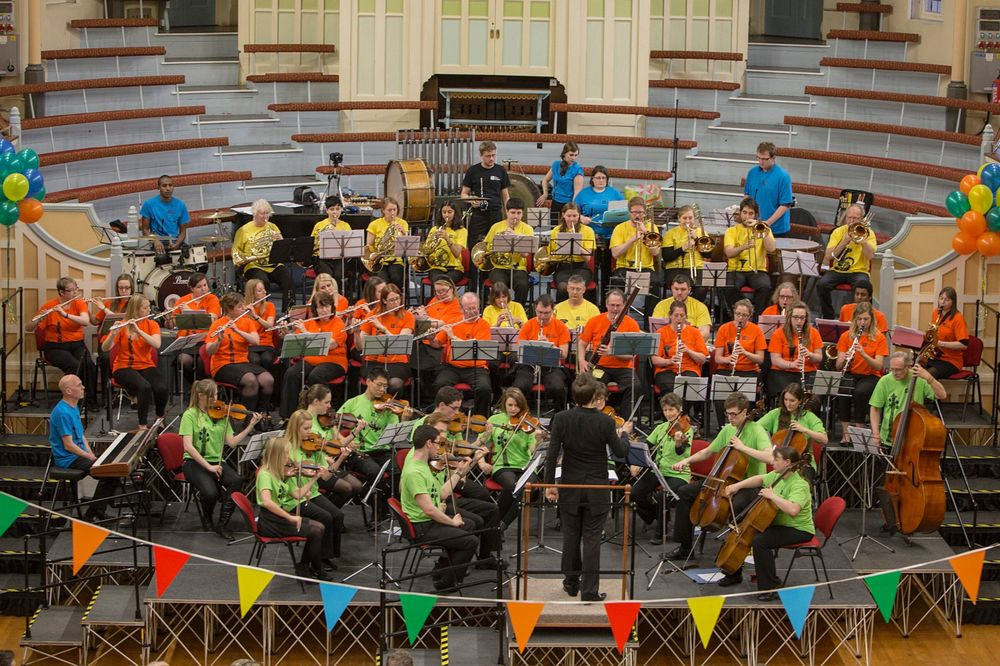 Conducting The People's Orchestra's 2nd Birthday Concert. TPO at West Bromwich Town Hall making music together.