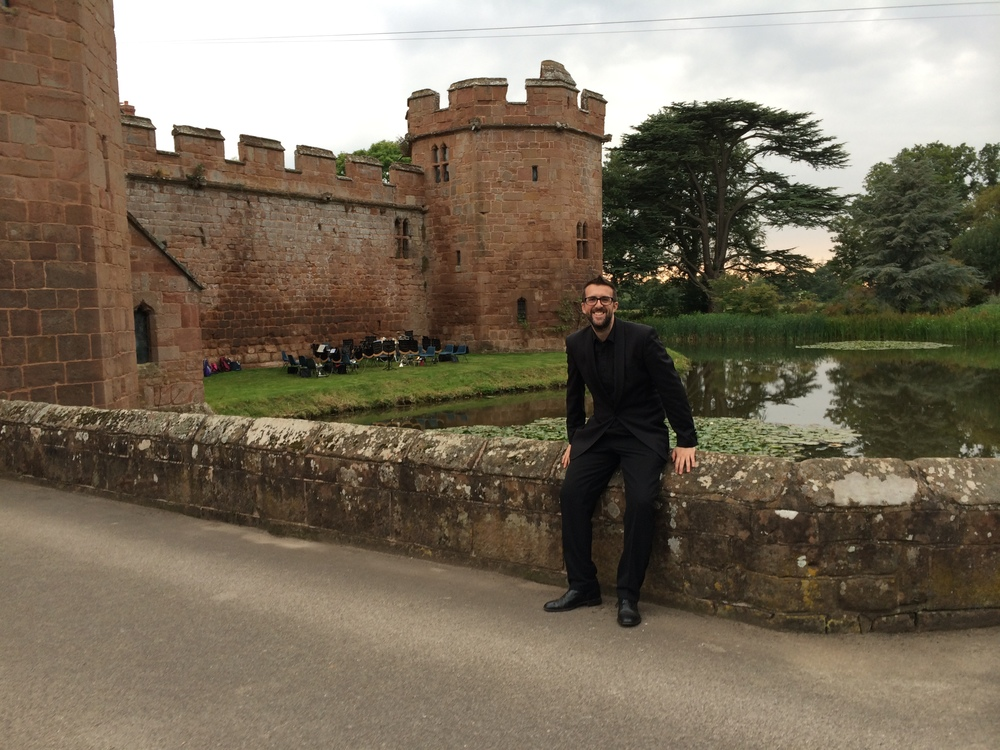 Outside Maxstoke Castle for a WW1 concert