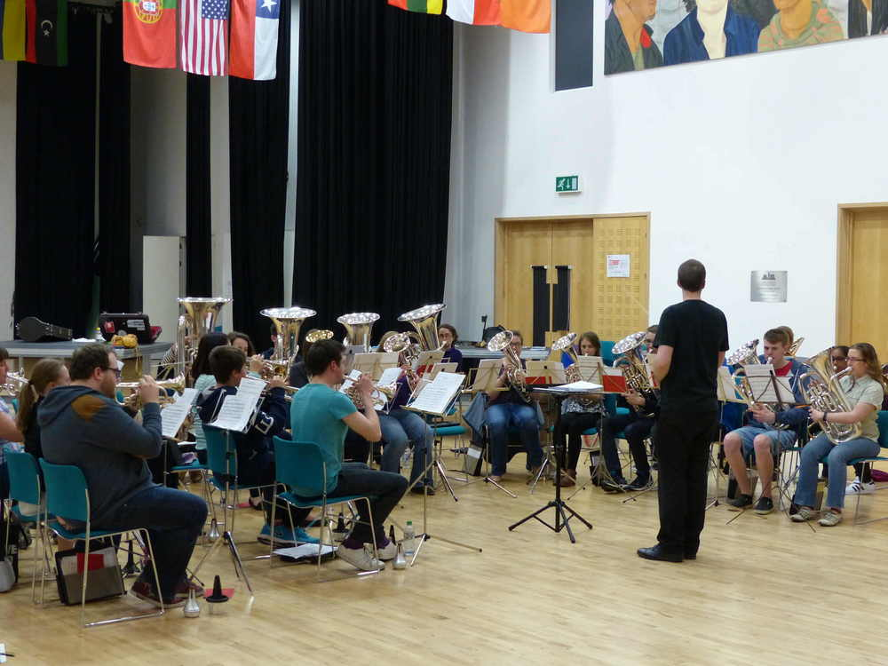 Leading an open rehearsal with the City of Birmingham Brass Band, 2015.