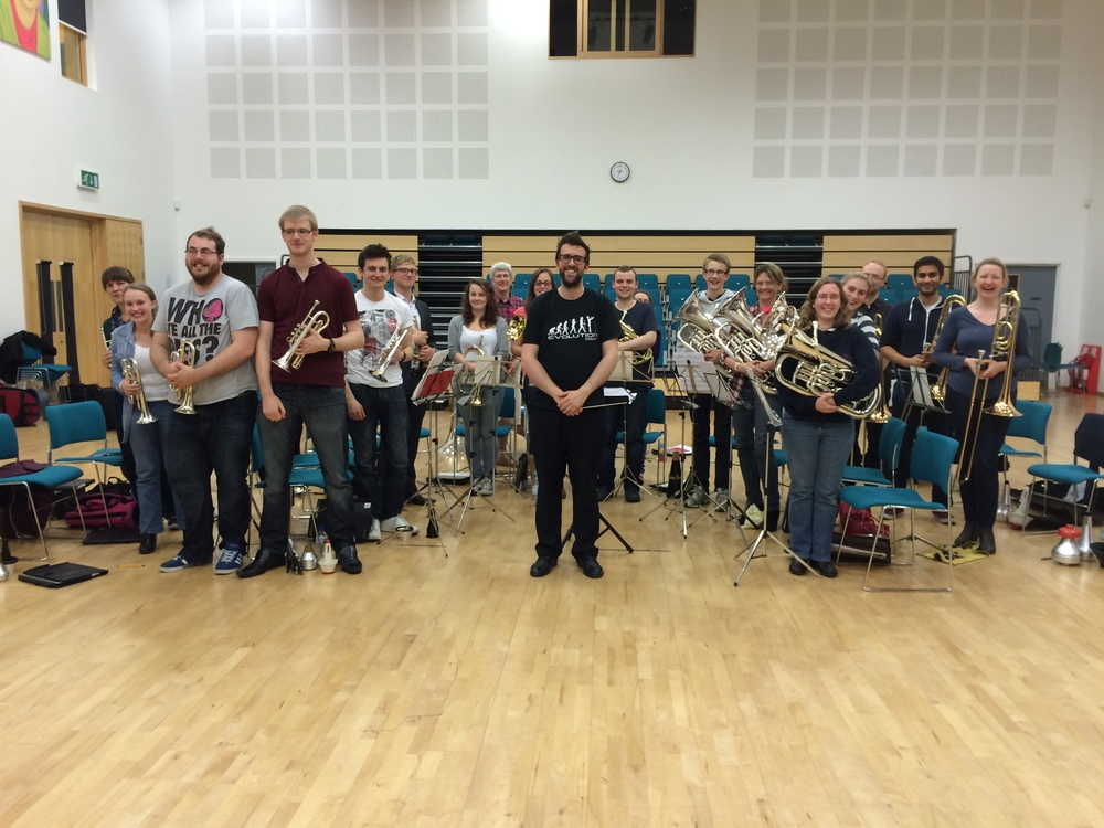 With the City of Birmingham Brass Band, October 2014