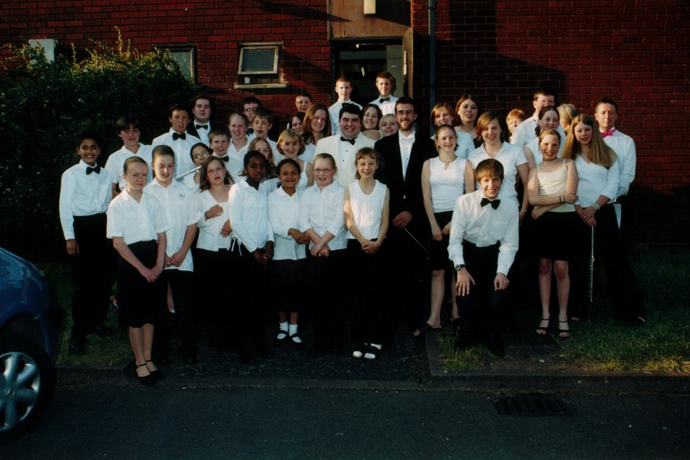 As Principal Conductor of the New Streetly Youth Orchestra, 2002