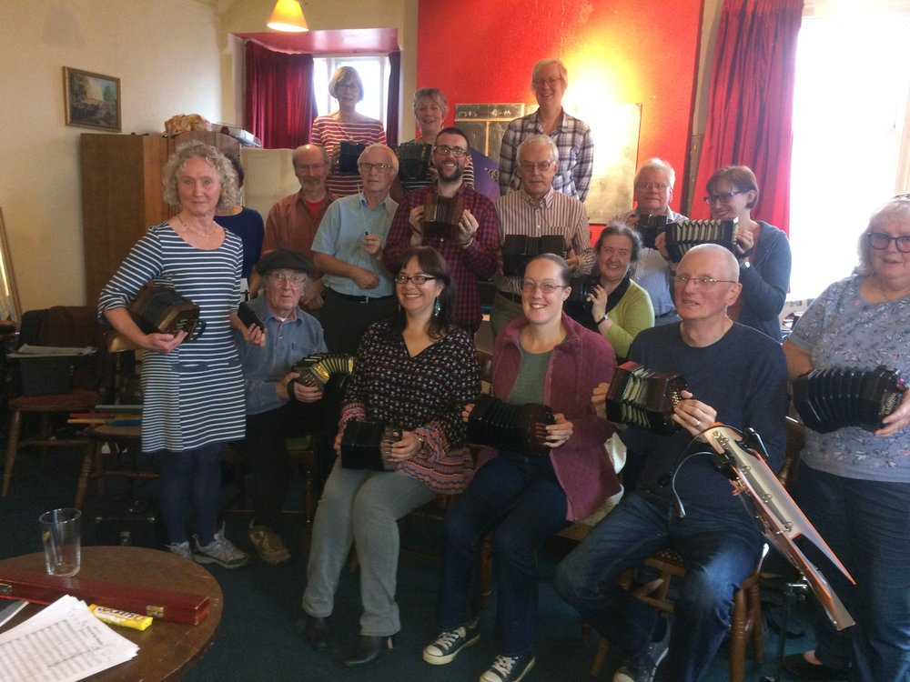 With the West Midlands Concertina Group in 2017.