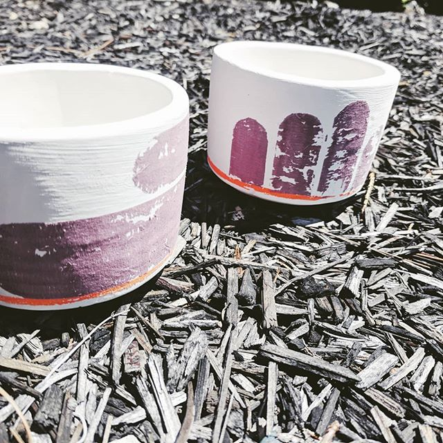 Snapped these before sending them out for the second firing. Find more of these at the @makedo.us booth at West Coast Craft next weekend! #sneakpeak #shopsaintflorence #comingsoon #underglaze #ceramics #clay #pottery #cup #ss2018 #westcoastcraft #cali