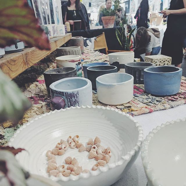 A dream come true! Super happy to have my ceramic pieces selling at West Coast Craft surrounded by such inspiring artists. Thank you @makedo.us for letting Saint Florence be a part of your booth vision!