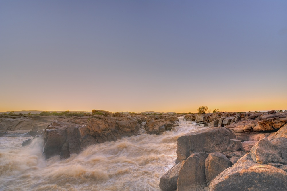 Dawn at the Augrabies Falls, Orange River