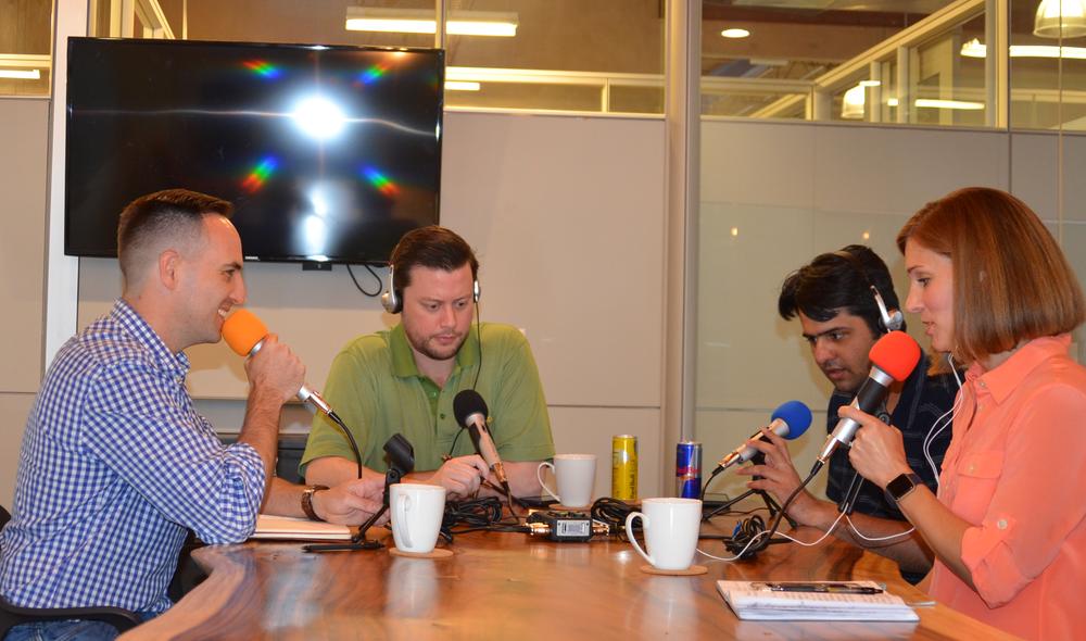 The common quest team, Left to right: Chris Hoo, Roy Johnston, Carin Giga, Muhammad Haleem