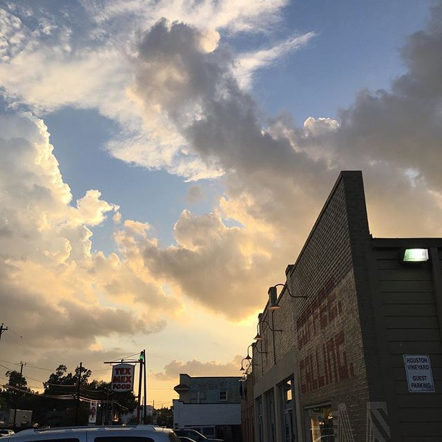 Beautiful evening last night. @a2ndcup is a good spot for a meeting! #houston #htx #houstonheights