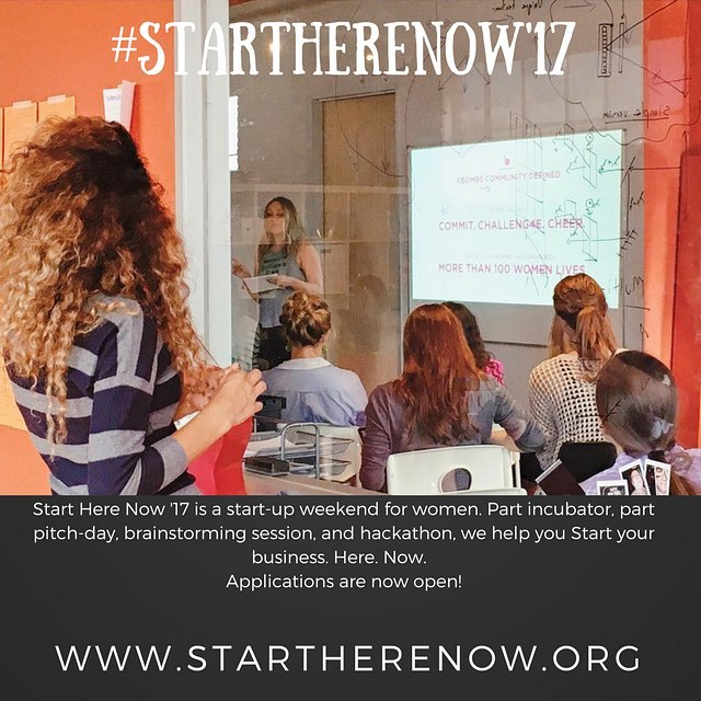 StartHereNow is a women's start-up weekend. Go from idea to prototype in one weekend. Applications now open! October 14 and 15, 2017 | Houston TX. Link in bio or www.startherenow.org  #htx #houston #startup #hackathon #womeninbusiness #womenwhocode #eadohouston #startherenow17 #shehackshtx