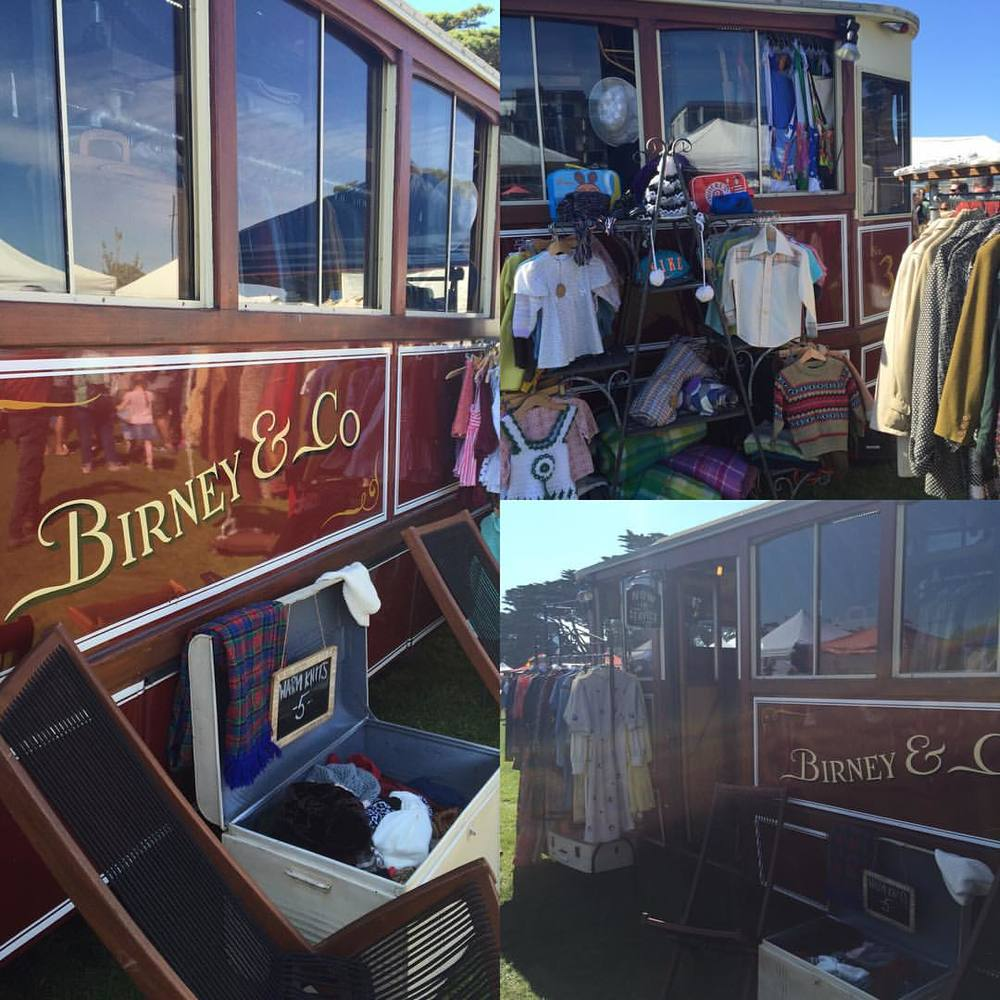 @birneyandco the travelling vintage tram, spotted this weekend at Torquay. Follow their social to see where they'll be next! #vintagewardobe #melbourne #vintage