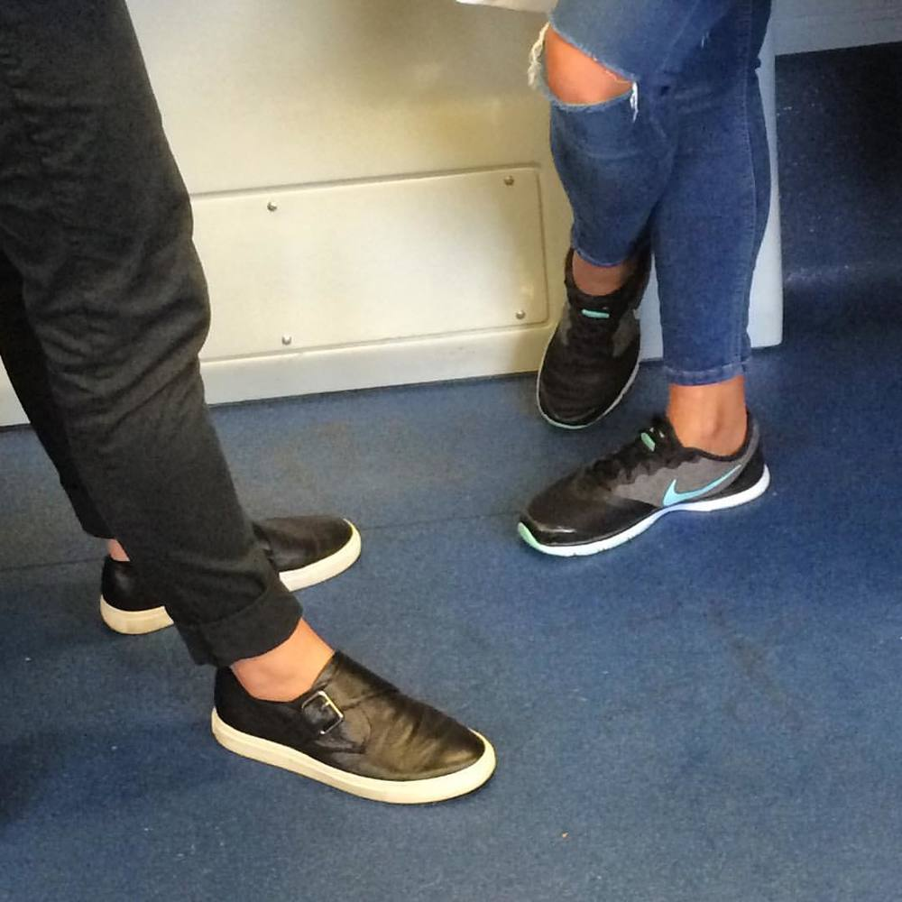 Everyone's got their trainers on for work! Great jeans! #fashiontraining #getcreative #melbourne
