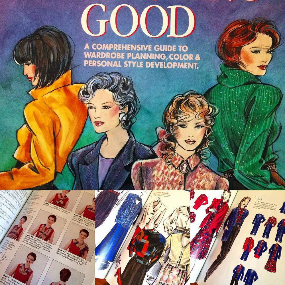 "Pulled out this classic style guide ""Looking Good"" by Nancy Nix-Rice. Some serious detail into styling, from hosiery down to coat hangers and how to organise your wardrobe. It is fabulous! Forgot I had this in my book collection. #getcreative #inspire"