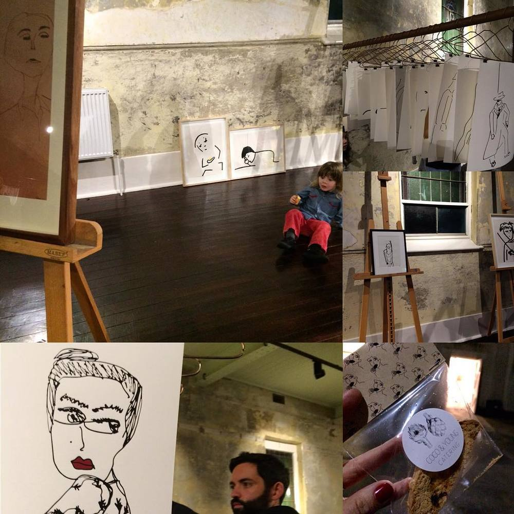 Talented illustrator @bianca_loiacono launched her exhibition last night #DRAWN The lovely Oratory space at the Abbotsford Convent felt like a whimsical playground with all the flowers and yummy treats and of course the gorgeous drawings by the artist herself. #getcreative ❌⭕️