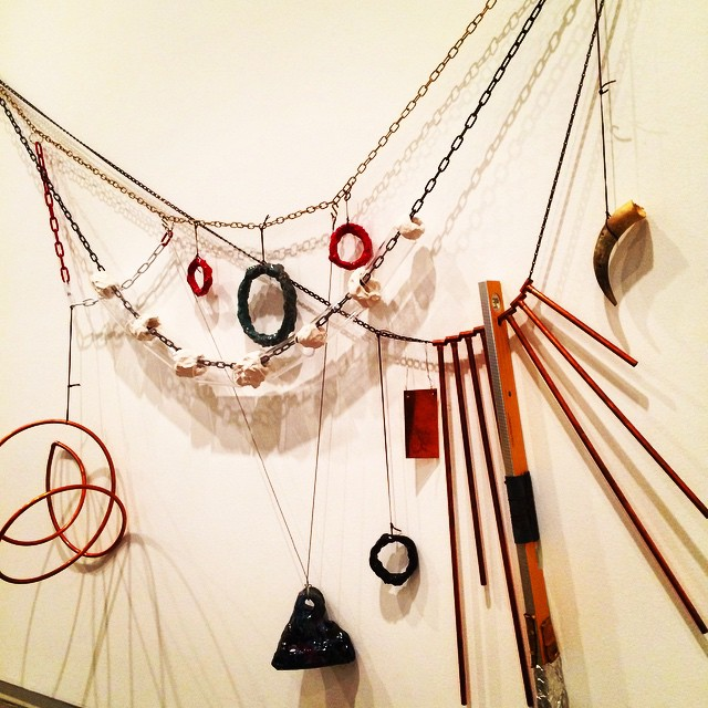 Necklace for Wall by artist Mikala Dwyer - love this piece! Giant jewellery! #getcreative #inspire #mikaladwyer #artist #iloveart #melbourne