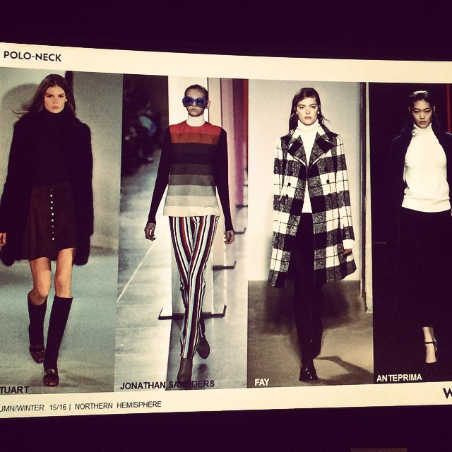Did you get our email??? It's all about the turtleneck for winter!!! Confirmed @wgsn 😊 #getcreative