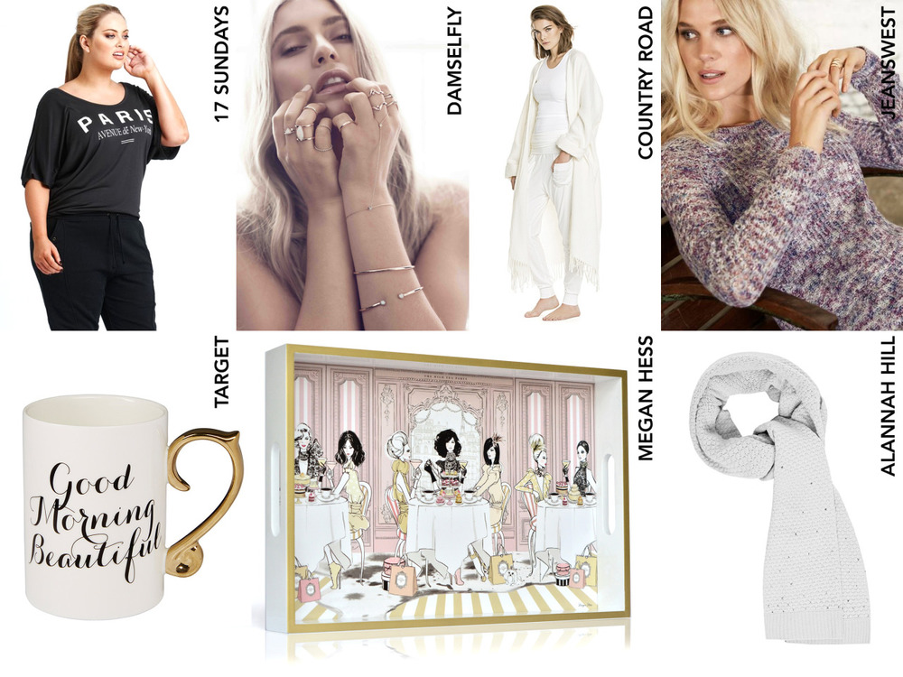 What are you getting Mum? Add some soft luxe to you your Mother's world with these beautiful gift ideas from iconic Australian retailers and designers.  ‪#‎getcreative‬ with your gift ideas and make your Mum feel special this Mother's Day!