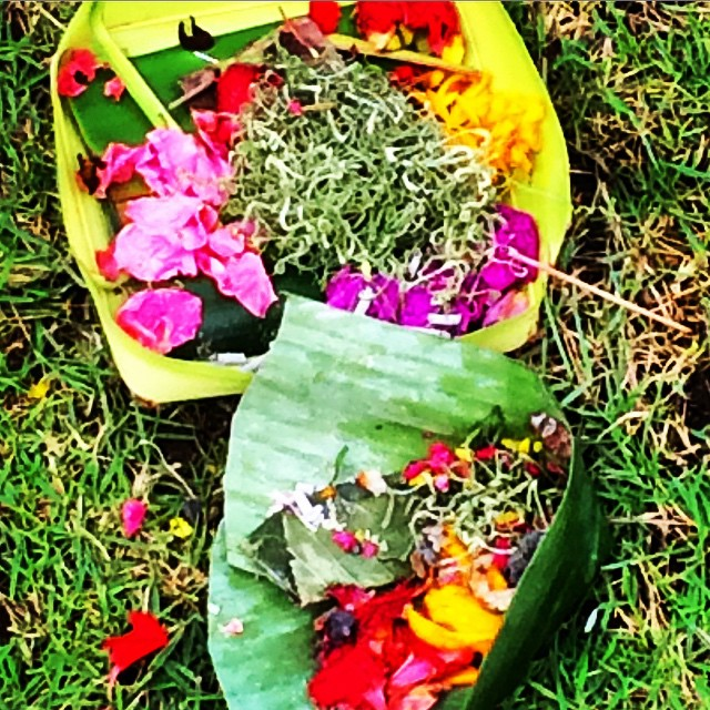 Offerings placed at every entrance #thebaliedit