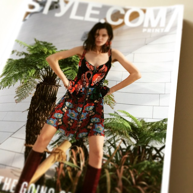 Great way to start the year with my fresh copy of Style.com !! Happy new year everyone x #getcreative @styledotcom