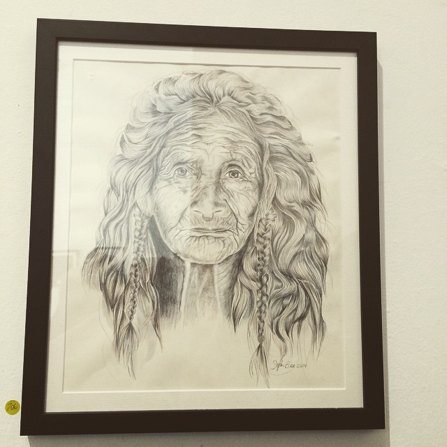 Bruswick Street Gallery the amazing artwork by @steph_elise_illustration  great work! Super talented lady!