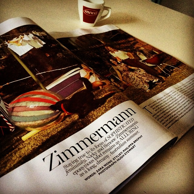 Nice and sweet spread in Vogue Australia this month. #zimmermann #australianretail