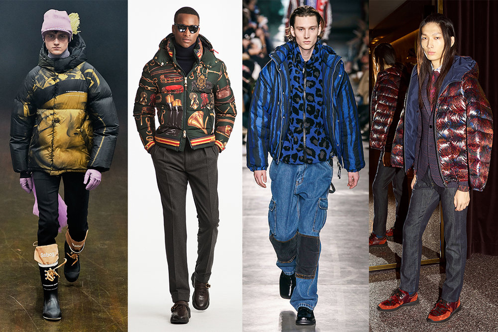 PRINTED PUFFER JACKETS -  Undercover, Ralph Lauren, MSGM, Etro