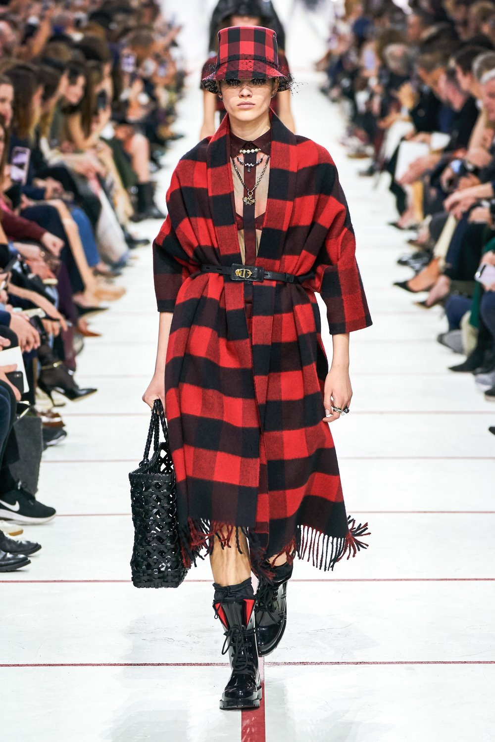 Red Check - Coats, jackets, skirts, shirts (also seen in yellow and green) - Christian Dior
