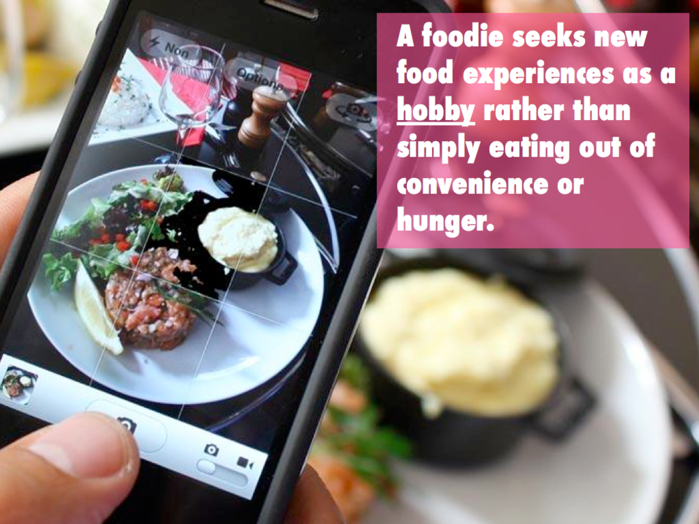 Using the analogy of foodies to communicate our insight that being a TV fan is a serious hobby that people enjoy, but that takes lots of mental/emotional work and investment,.