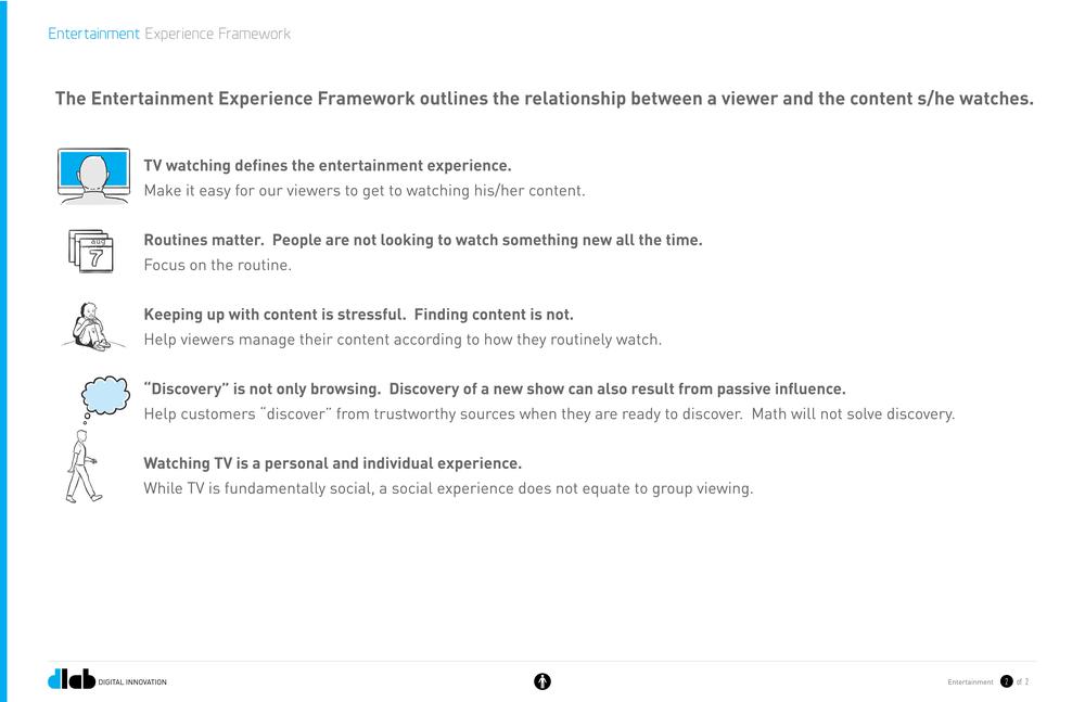 A set of insights and corresponding guiding principles.