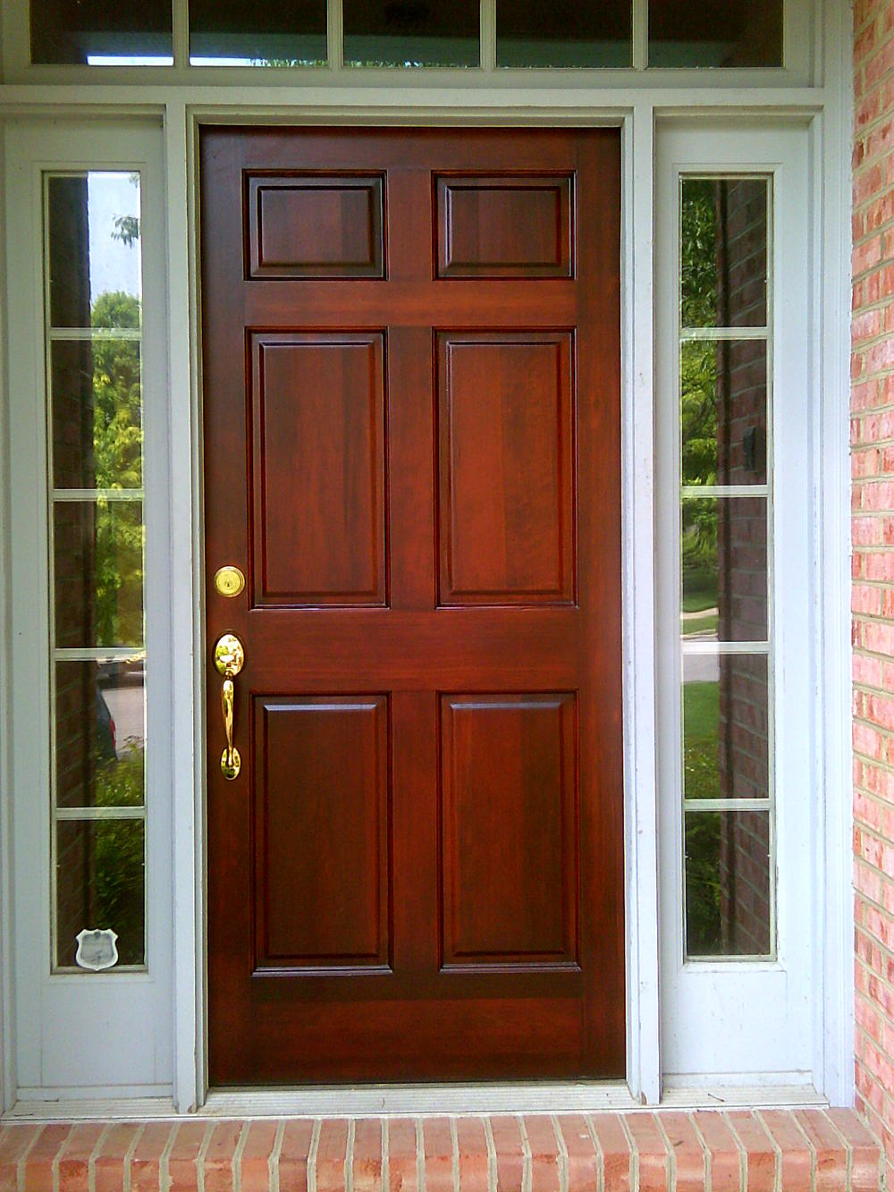 Wooden Door Refinish Wood Restain Restaining Restoration