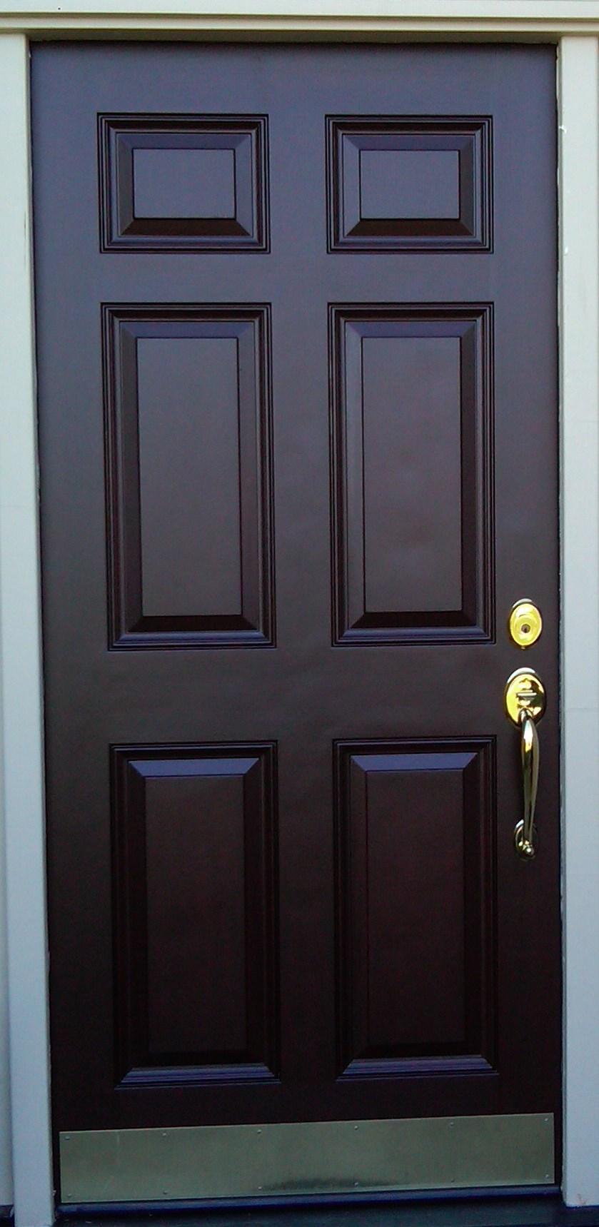 Front Door Wood Wooden Restaining Old Restore Refinish