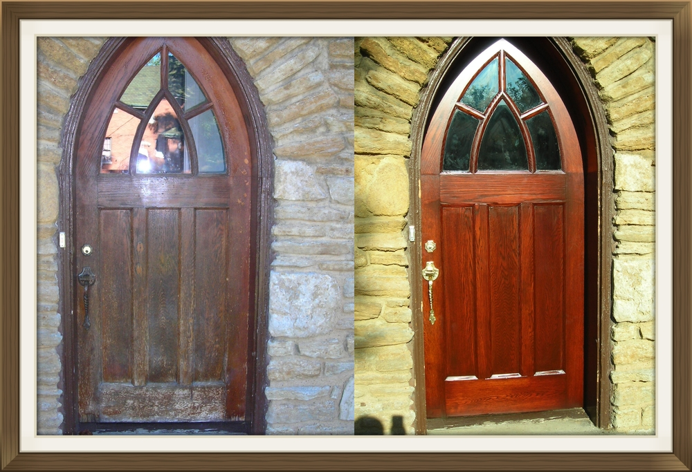 Completely new Front door restoration and refinishing — Door Renew | Wood Door  GT48