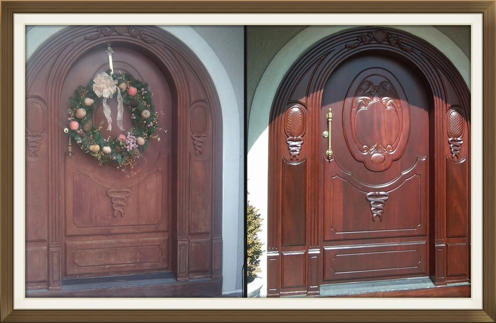 Brand-new Front door restoration and refinishing — Door Renew | Wood Door  MJ26