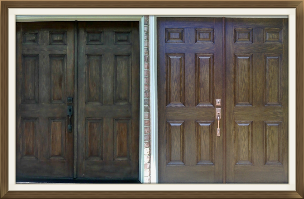Exterior Door Wood Wooden Refinish Refinishing Renew