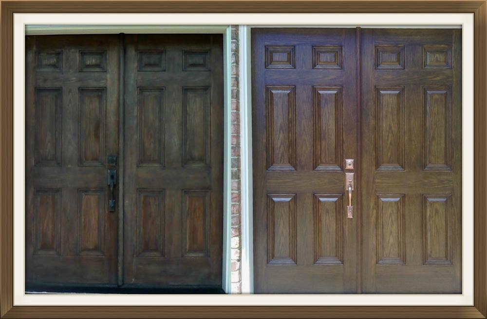 Astounding Restain Weathered Front Door Photos Plan 3d House