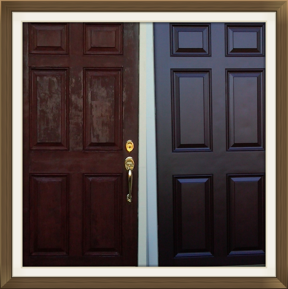 Faded-door-refinishing-restoration-mahogany-restore & Front door restoration and refinishing u2014 Door Renew | Wood Door ... pezcame.com