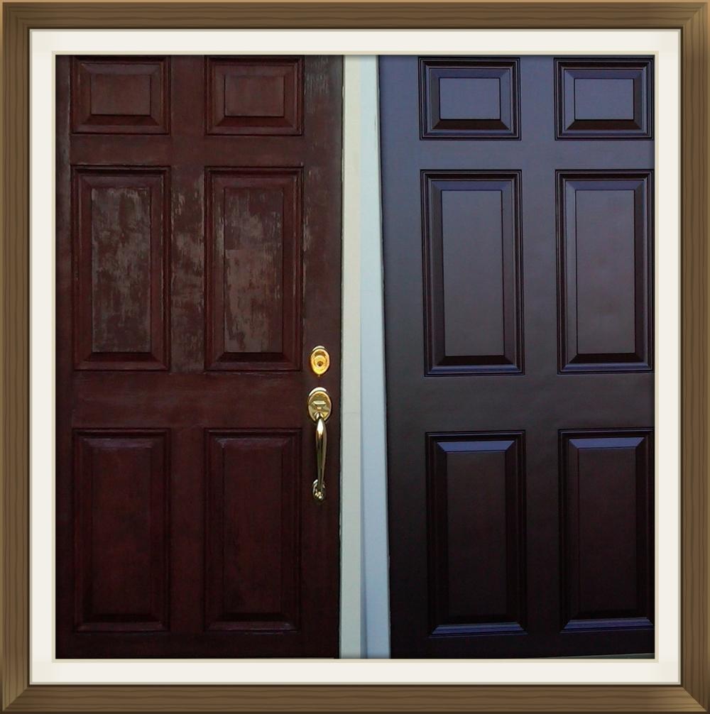 New Front door restoration and refinishing — Door Renew | Wood Door  MR12