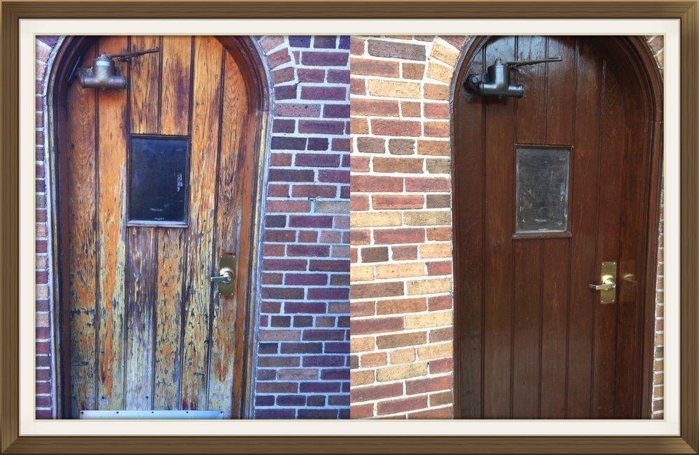 Front Door Restain Refinish Restore Refinishing Oak