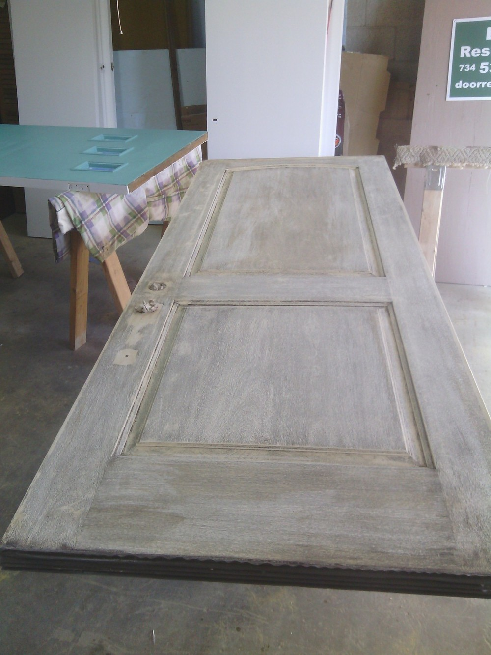 Process door renew wood door restoration - Refinishing damaged wood exterior doors ...