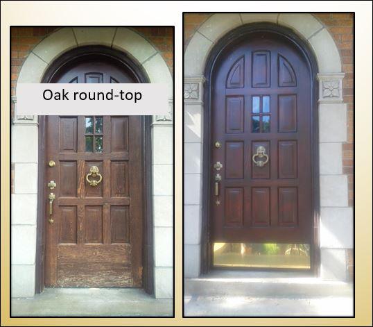 Shenandoan oak round top front door