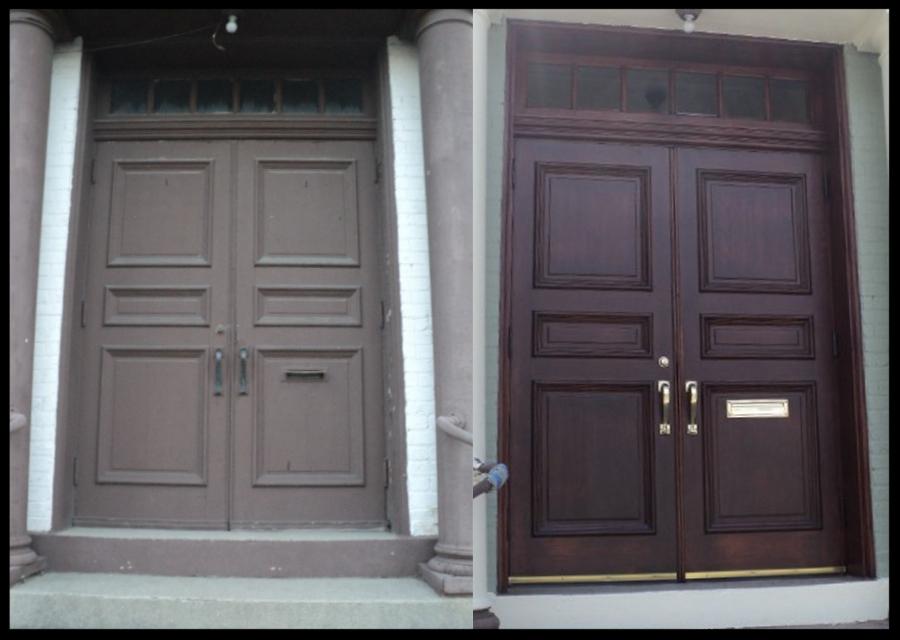 wooden-door-refinish-wood-restain-restaining-restoration-church-renew