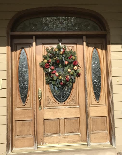 door refinishing wood entry