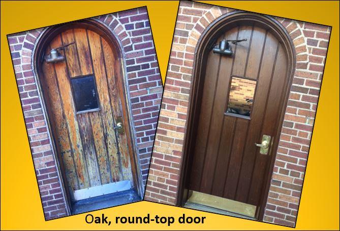 Oak door re-stained