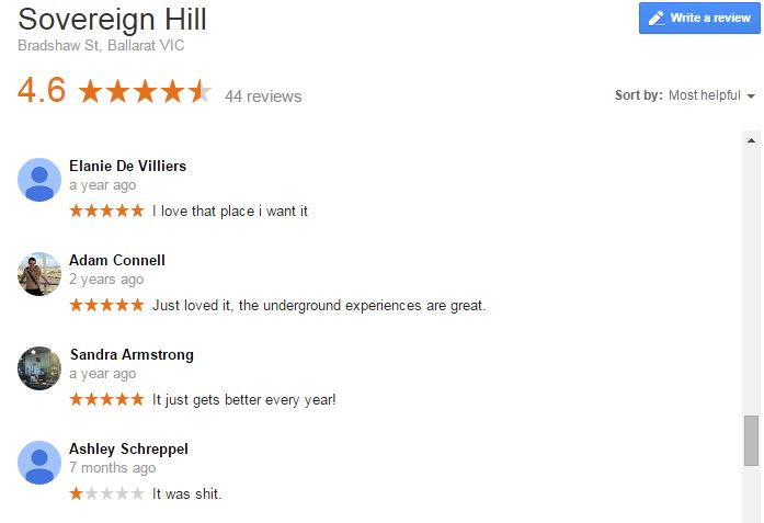 Sovereign Hill Reviews